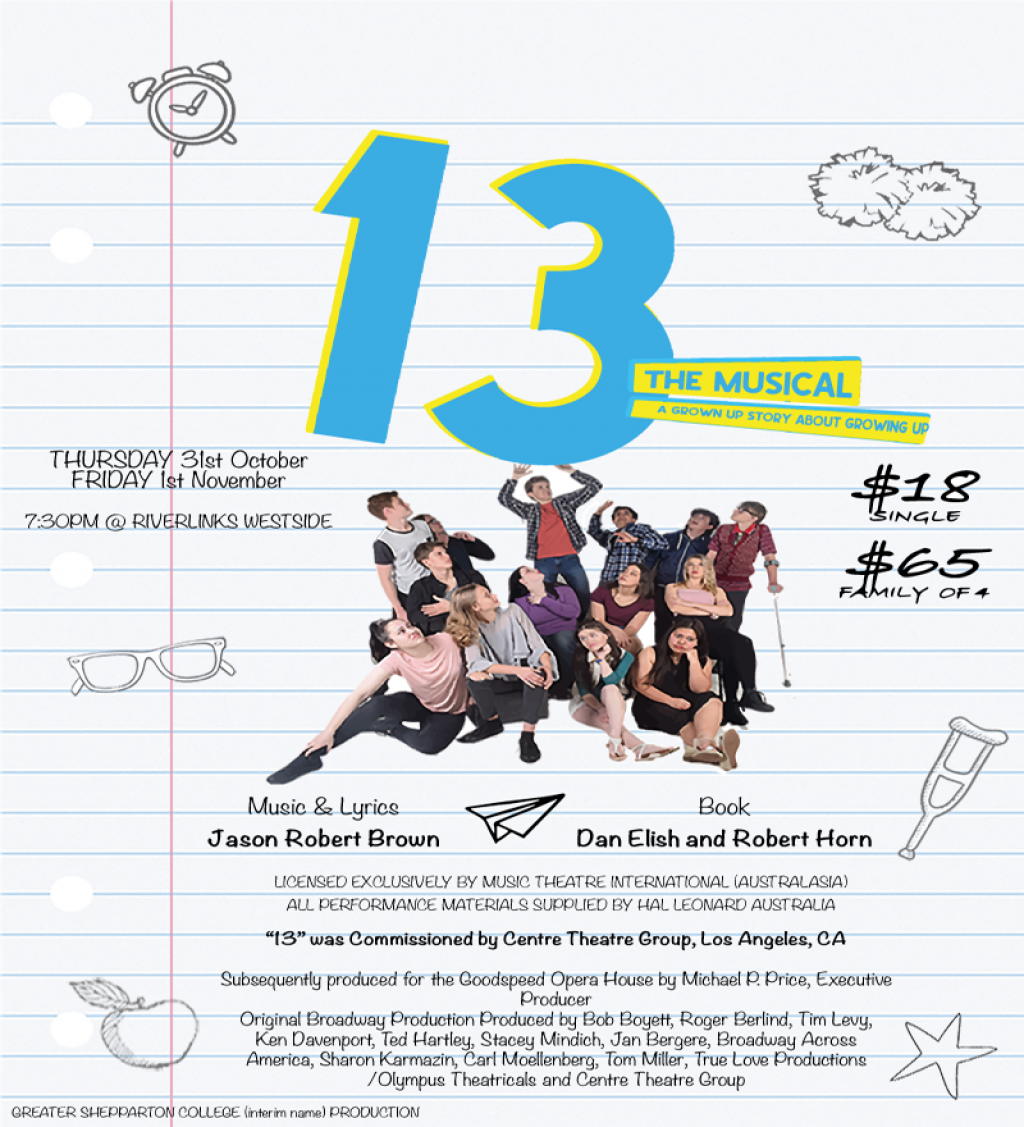 Greater Shepparton College (Interim Name) presents 13 The Musical