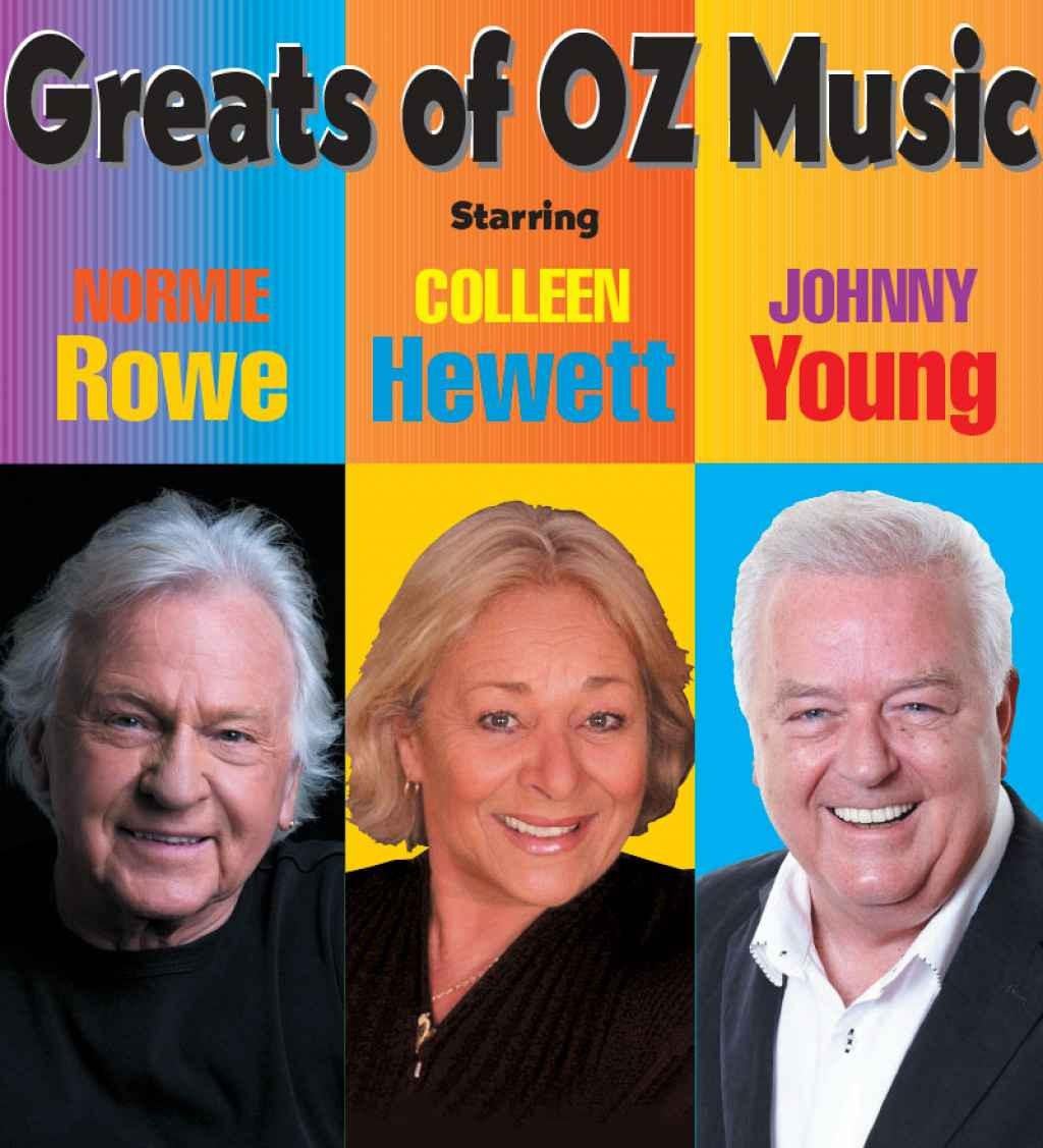 Backstage Productions presents The Greats of Oz Music -- Normie Rowe, Colleen Hewitt and Johnny Young